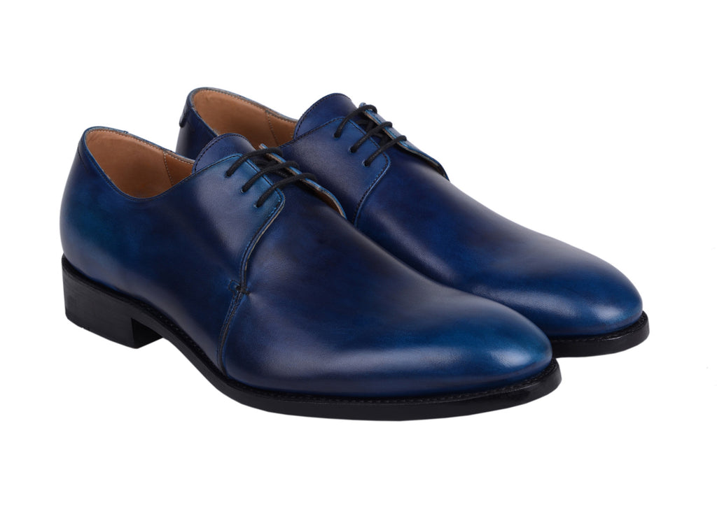 Derby Tony - patine Bleu cobalt