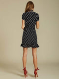 Birkin Wrap Dress in Polka