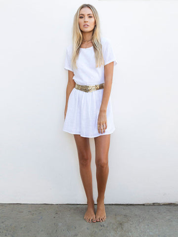 By The Sea Mini Dress in White