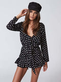 Clarity Playsuit in Black Polka