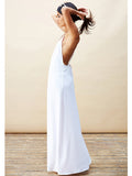 Cross Back Maxi Dress in White , Dress - Dancing Leopard, Maarli Boutique  - 4