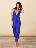 Genie Jumpsuit in Royal Blue Star