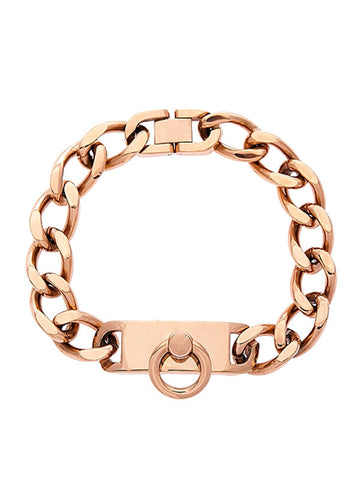 Identify Chain Bracelet - Rose Gold