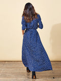 Maxi Shirt Dress in Navy Star