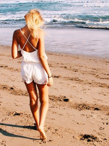 Summer Days Playsuit - White