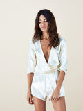 Tiago Playsuit in Champagne