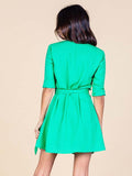 Zeina Wrap in Summer Green