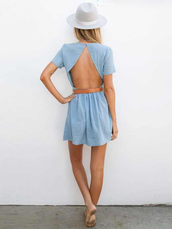 By The Sea Mini Dress in Blue , Dress - Studio Agency, Maarli Boutique  - 1