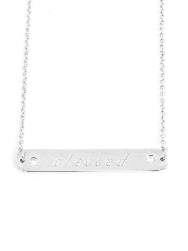 Blessed Pendant in Silver , necklace - Carly Paiker, Maarli Boutique
