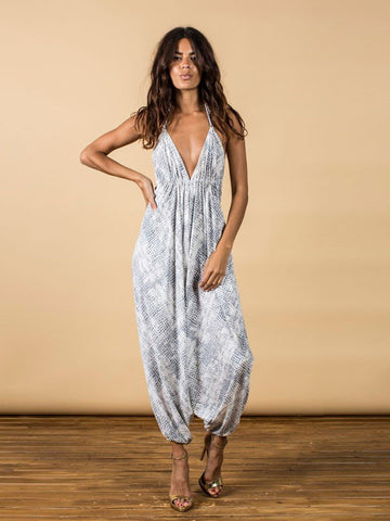 Genie Jumpsuit - Alligator Print