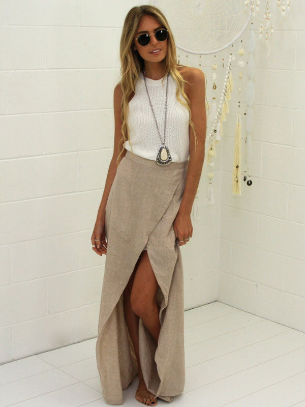 Open Front Maxi Skirt , Pants - Studio Agency, Maarli Boutique  - 1