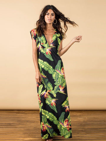 Quintino Maxi Dress - Banana Leaf