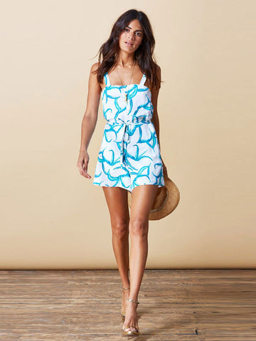 Souza Playsuit - White Aloe