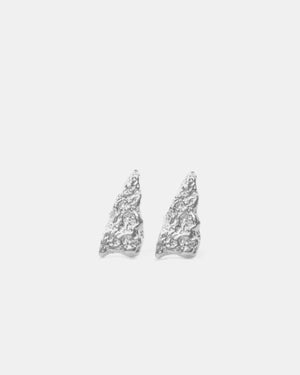 Eliska Bread triangle Earrings, Sterling Silver