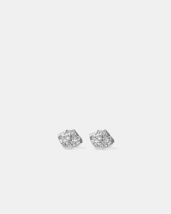 Eliska Bread Ball Crumble Earrings, Sterling Silver
