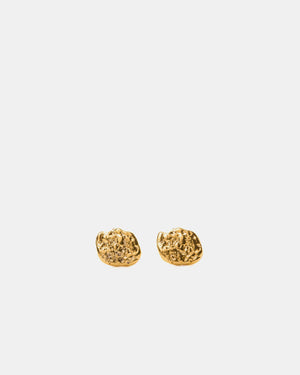 Eliska Bread Ball Crumble Earrings, Gold