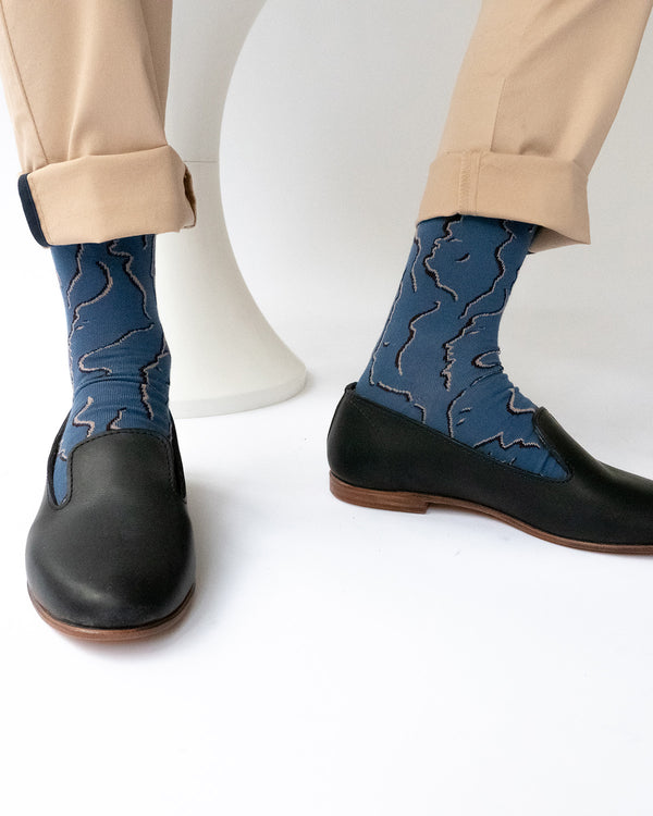 Bonne Maison Blue Head Socks