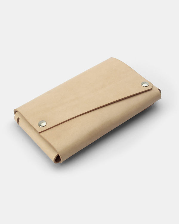 Lemur Fold Clutch Bag, Natural