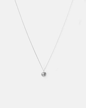 Eliska Bread ball crumble Necklace, Sterling Silver