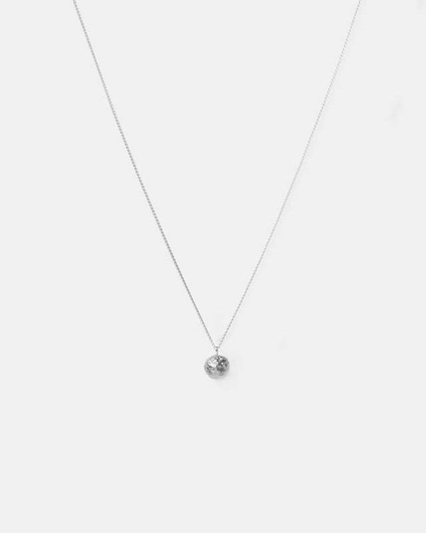 Bread ball crumble Necklace, Sterling Silver
