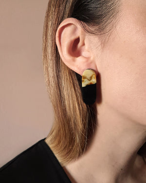 Kohut Large Tube Earrings