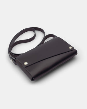 Lemur Fold Clutch Bag, Black