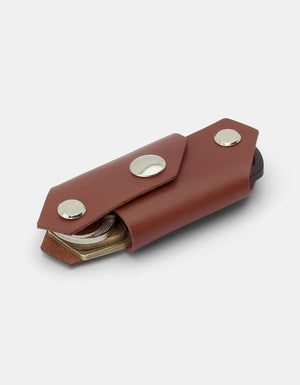 KeyFolder Keychain, Italian Leather