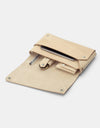 Fold Clutch bag, Natural Leather