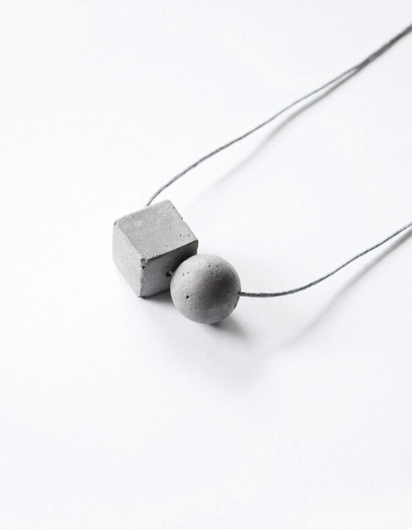 Large Cube/Sphere Necklace