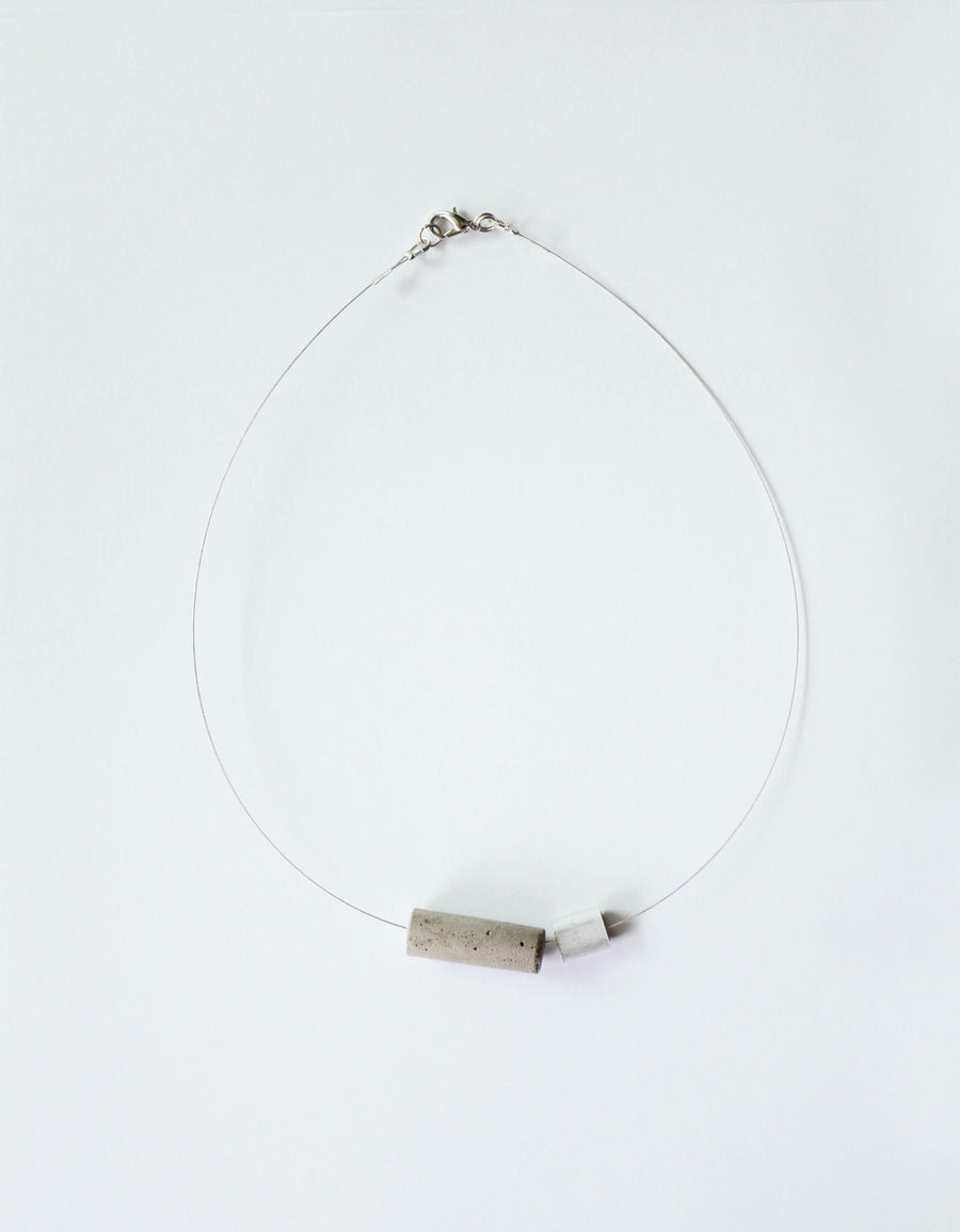 Aluminum Cylinder Necklace