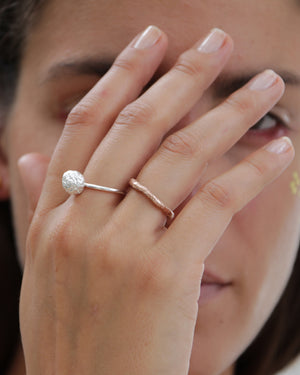 Bread Crust Ring, rose gold