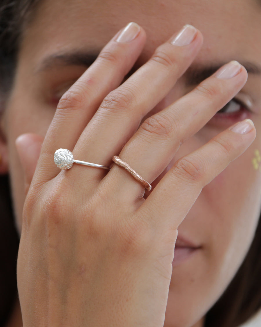 Eliska Bread Crust Ring, rose gold