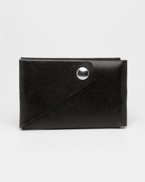 Fold Wallet, Black Leather