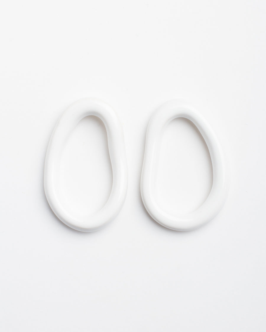 Eman Earrings, White