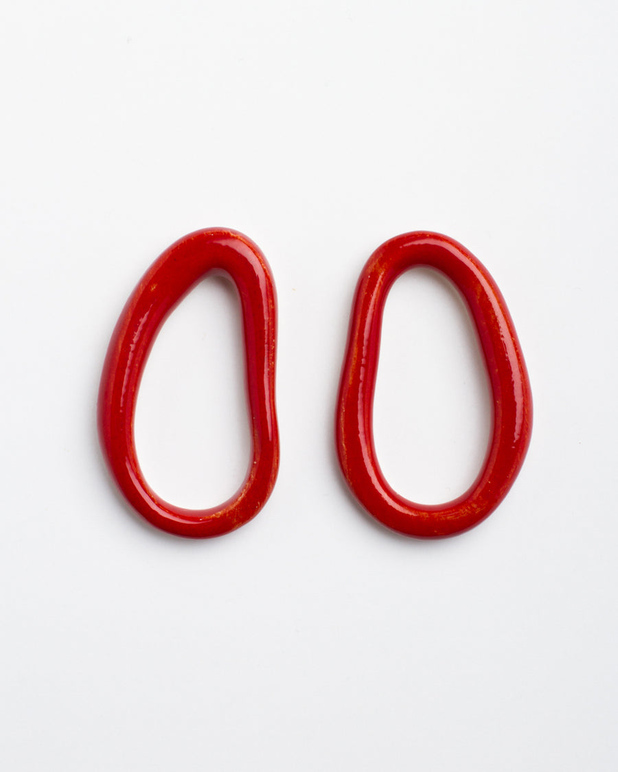 Eman Earrings, Red