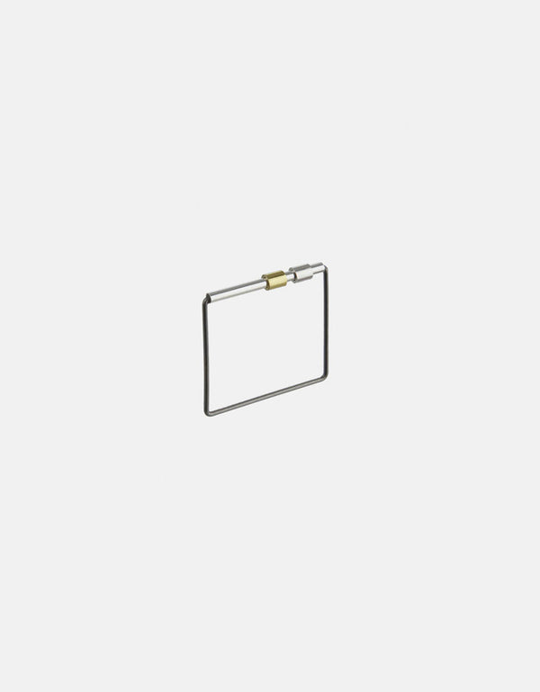 Karla Cube Ring, Sliding Silver and Gold Tubes