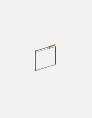 Karla O. Cube Ring, Sliding Gold Tube