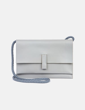 Minimalist Crossbody Bag, Light Gray