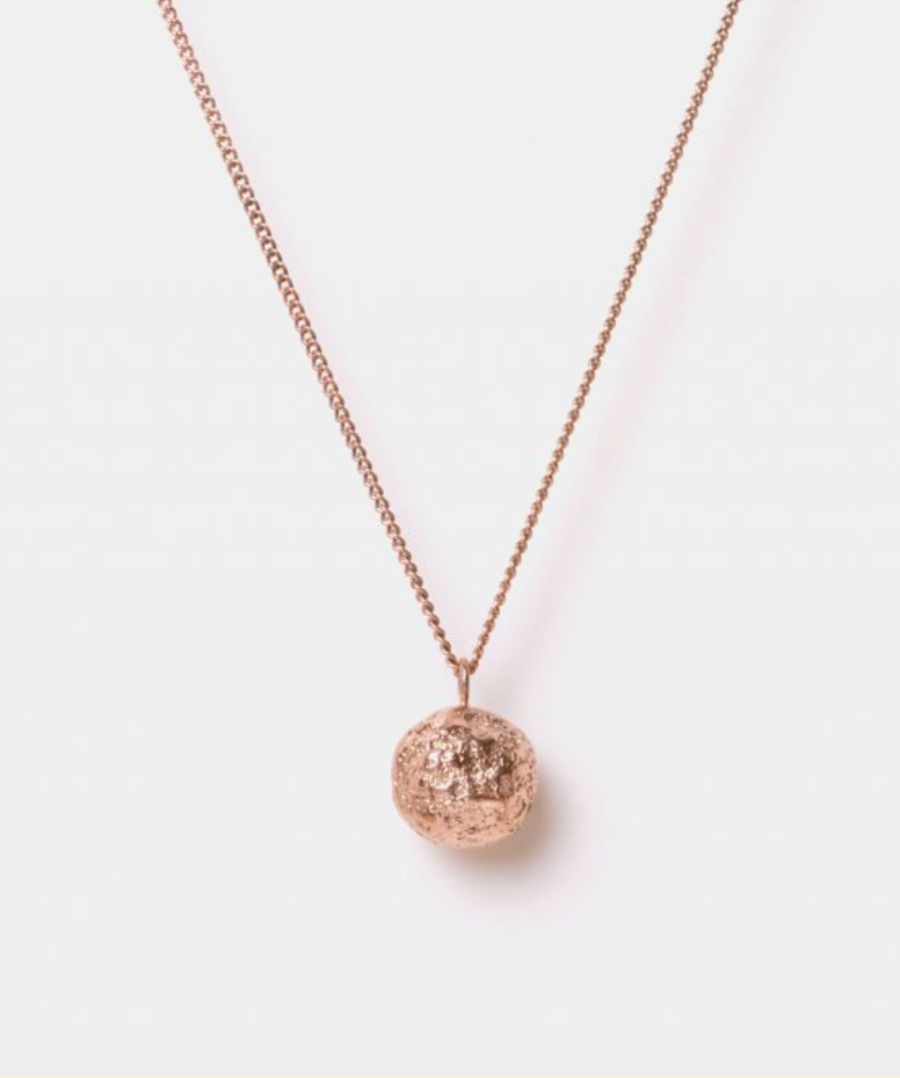 Eliska Bread ball crumble Necklace, Rose Gold