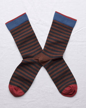 Bonne Maison Chestnut Stripe Socks