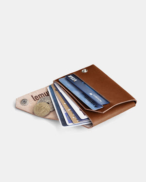 Fold Wallet, Dark Brown Leather