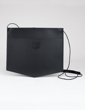 Zand-erover Mini Fold Leather Shoulder Bag, Black