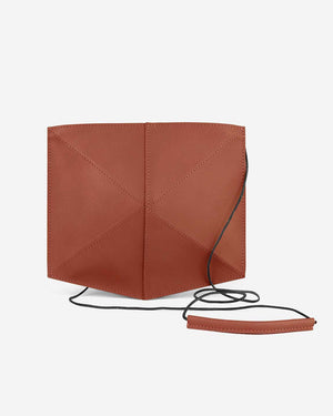 Zand-erover Mini Fold Leather Shoulder Bag, Terra