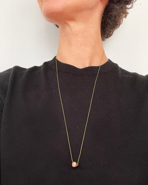 Eliska Bread ball crumble Necklace green string