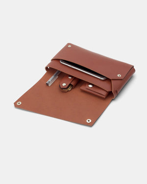Lemur Fold Clutch Bag, Brown