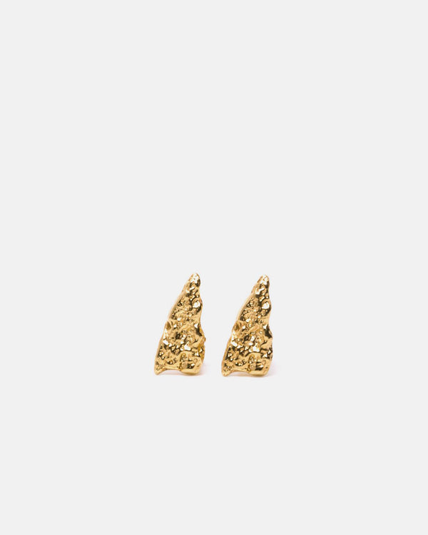 Eliska Bread triangle Earrings, Gold