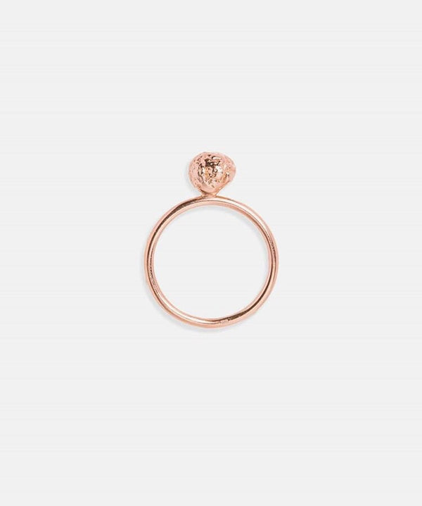Eliska Bread Crumble Ball Ring, Rose Gold