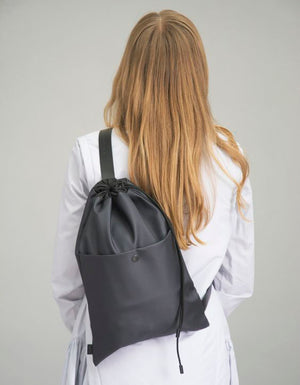 Minimalist Single-Strap Backpack, Black