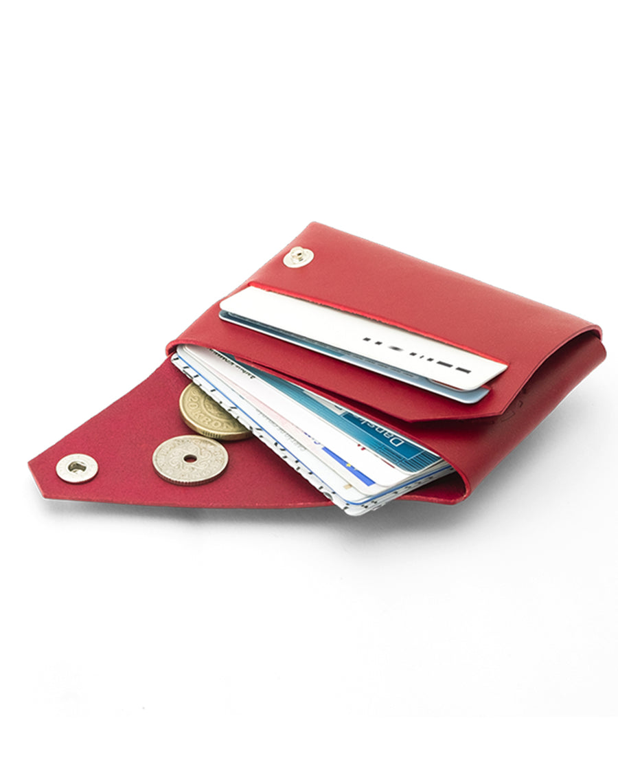 Fold Wallet, Red Leather