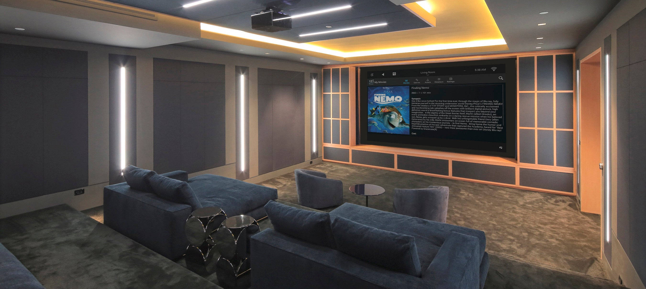 Home Theater Design Services in Long Island and NYC | Audio Den on kitchenette design, laundry room design, bathroom design, gourmet kitchen design, gym design, basketball court design, bar design, lounge design, steam room design, fireplaces design,